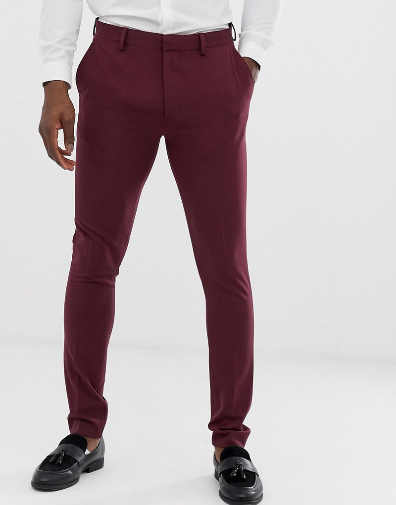 b5972bbcf0cd asos-design-super-skinny-suit-trousers-in-burgundy-