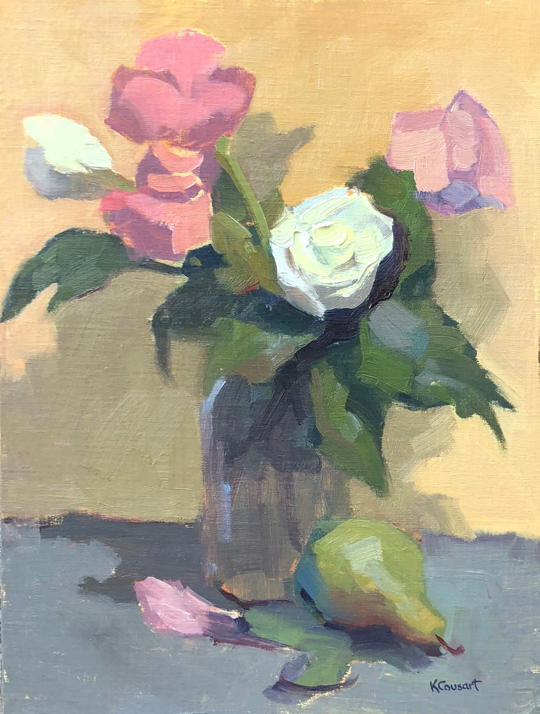First Roses, 12 x 16 Oil on Linen