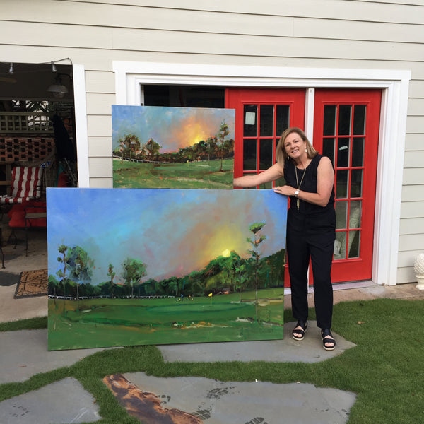 Commission Pinehurst LongLeaf Golf Club, Pinehurst NC, 48x72 Oil