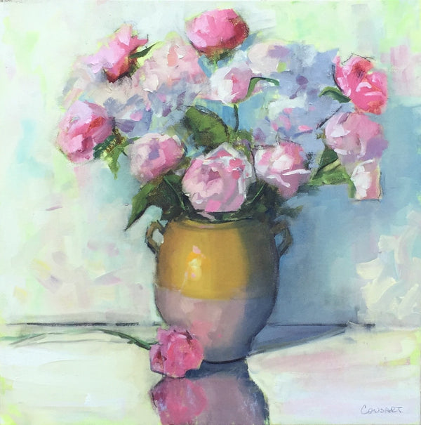 Peony Party In Confit Pot, 30x30