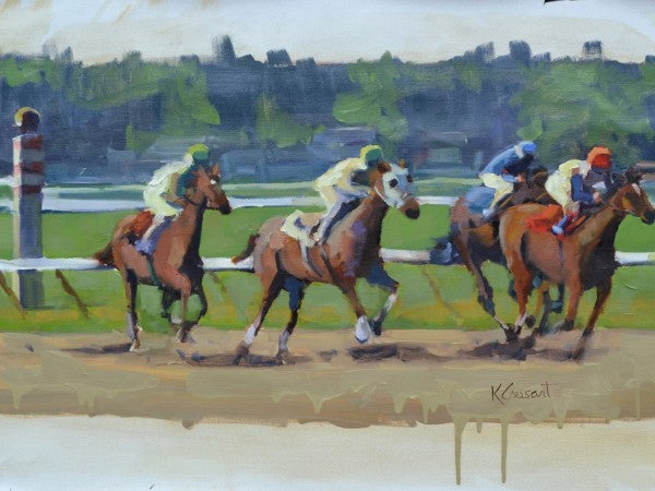 Commission Saratoga Horse Race, 40x30