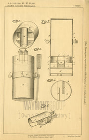 Measuring Tooth Powder Quantities McClelland & Bushnell (Lake) Original Patent Lithograph 1888