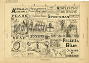 Advertising on Hoardings F. Day Original Patent Lithograph 1888