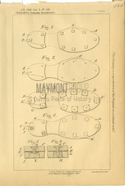 Sole & Heel Protector Cleasby Original Patent Lithograph 1888