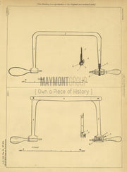 Saw Graham Original Patent Lithograph 1888