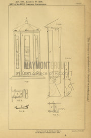 Sale Apparatus and Display Key & Maker Original Patent Lithograph 1888