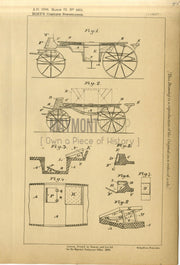 Carriages Hoey Original Patent Lithograph 1888