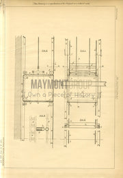 Well Guards for Lifts Newsome Original Patent Lithograph 1888
