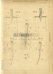 Toy Spade Lee Original Patent Lithograph 1888
