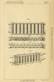 Pianofortes Dutton Original Patent Lithograph 1888