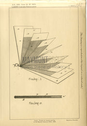 Washing Blue Weiss (Lake) Original Patent Lithograph 1888