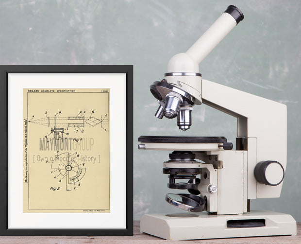 Photometric Apparatus Carl Zeiss Original Patent Lithograph 1932