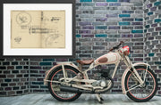 Motorcycle Brake Securing Device Friedrich Wilhelm Pfaff Original Patent Lithograph 1932