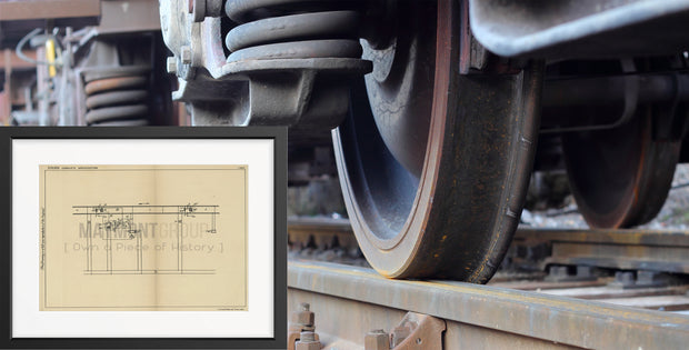 Railway System Impedance Bonds General Railway Signal Company Original Patent Lithograph 1932