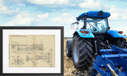 Tractor Couplings International Harvester Co Original Patent Lithograph 1933