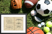Inflatable Ball Juan Valbonesi Original Patent Lithograph 1932