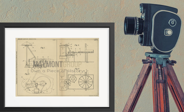 Photographic Print Development Kodak Limited Original Patent Lithograph 1933