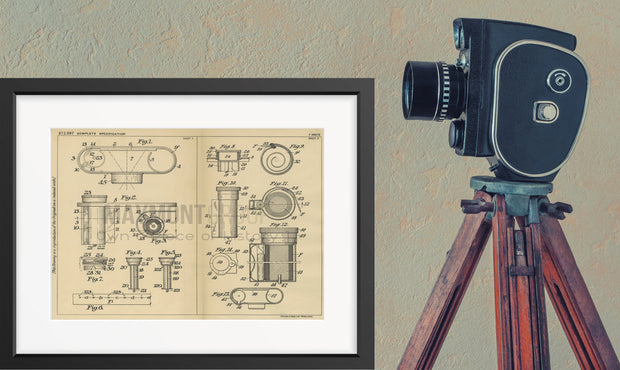 Roll Film Cameras Kodak Limited Original Patent Lithograph 1932