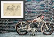 Motorcycle Spring Forks Norton Motors Limited Original Patent Lithograph 1933