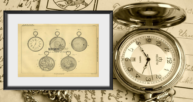 Pocket Watch by A. Amaron, 1889