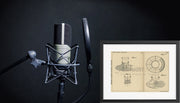 Microphone Wind Shield Radio Corp. of America Original Patent Lithograph 1932