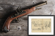 Gun Mounting Vickers-Armstrongs Limited Original Patent Lithograph 1932