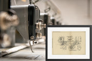 Sewing Machine Singer Manufacturing Company Original Patent Lithograph 1932