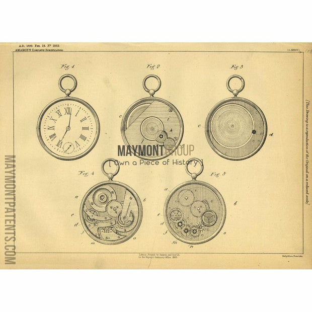 Clock | 1889 | Patent No. 2955-United States Patent Office-Maymont Patent Group
