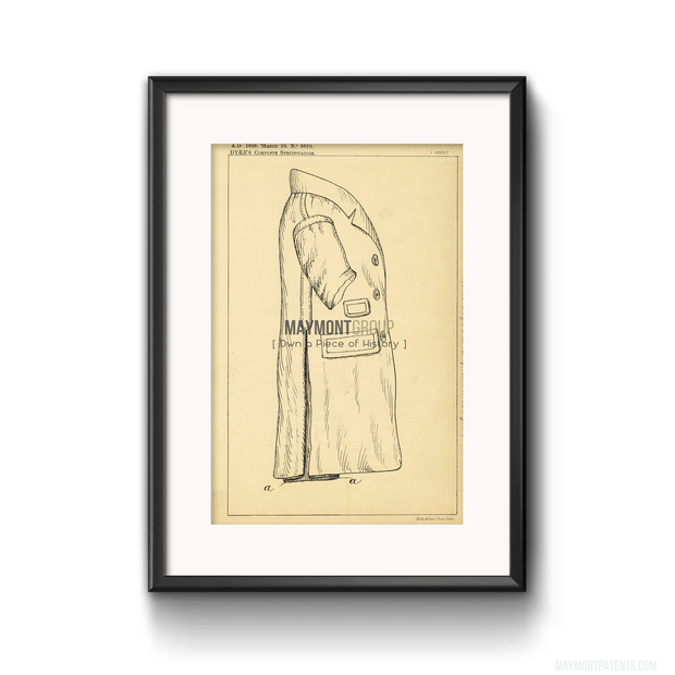Coat | 1898 | Patent No.5870-United States Patent Office-Maymont Patent Group