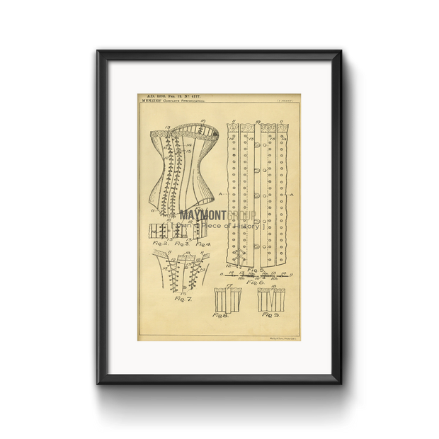 Corsets | 1890 | Patent No. 19838-United States Patent Office-Maymont Patent Group