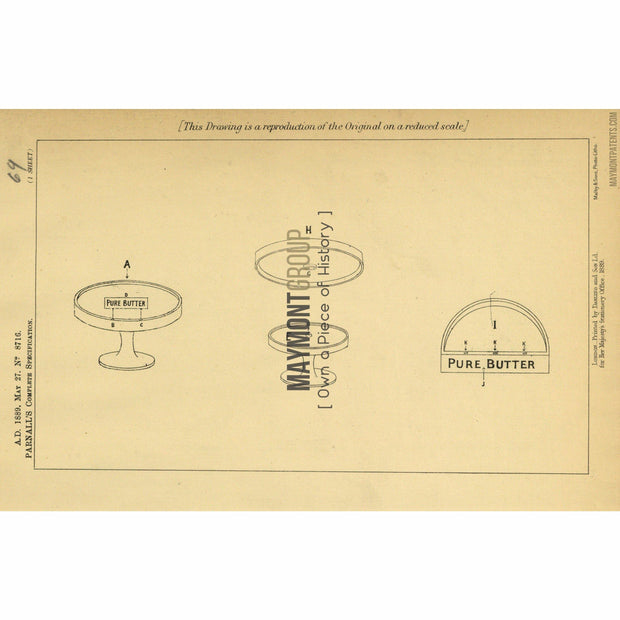 Display | 1889 | No. 8716-United States Patent Office-Maymont Patent Group