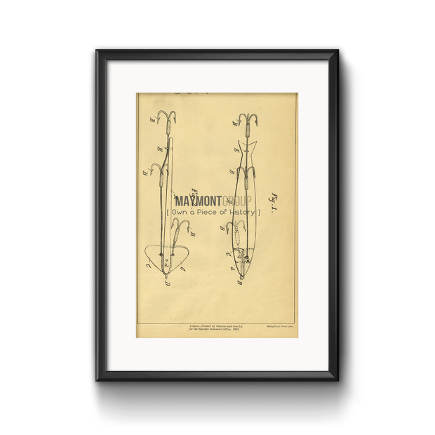 Fishing Tackle | 1888 | Patent No. 6615-United States Patent Office-Maymont Patent Group