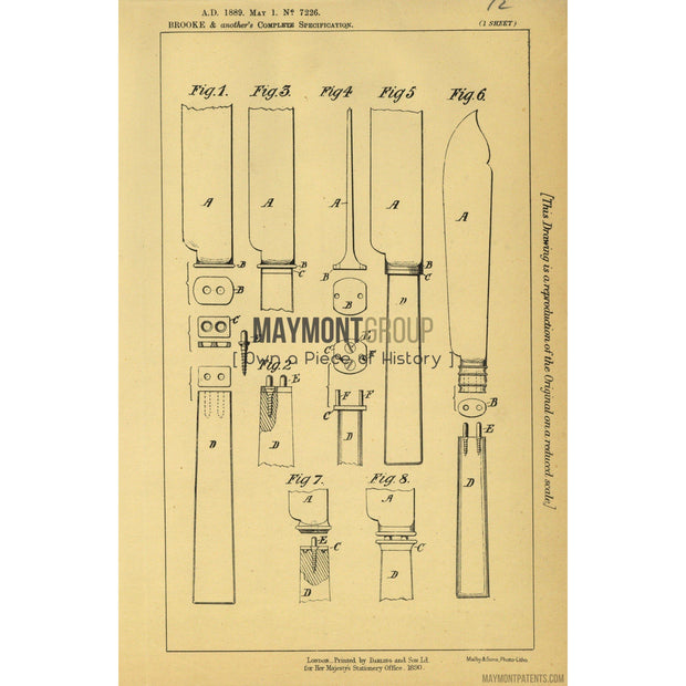 Handles | 1889 | Patent No. 7226-United States Patent Office-Maymont Patent Group