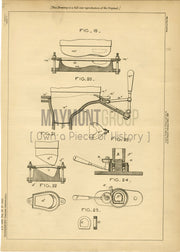Footwear Moulding Henderson Original Patent Lithograph 1888