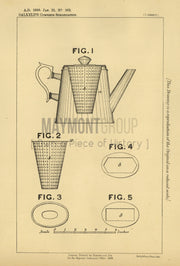 Apparatus for making Infusions Salkeld Original Patent Lithograph 1888