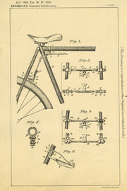 Bicycle Brakes Anderson Original Patent Lithograph 1898