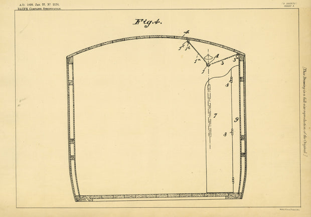 Luggage Holders Bain Original Patent Lithograph 1898
