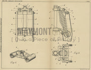 Motorcycle Front Fork Mounting Francis And Barnett Limited Original Patent Lithograph 1933