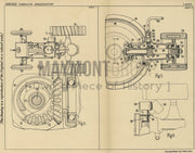 Tractor Pulley Ford Motor Company Limited Original Patent Lithograph 1932