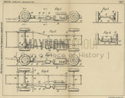 Arrangement of Driving Gear in Vehicle George Rackham and AEC LTD Original Patent Lithograph 1932