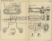 Tractor Lubricating System the Cleveland Tractor Company (Triggs) Original Patent Lithograph 1932