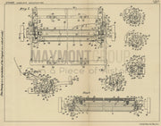 Typewriter L. C. Smith & Corona Typewriters Inc. Original Patent Lithograph 1932