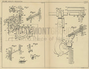 Tufted Pile Fabric Weaving Method Bigelow-Sanford Carpet Co Original Patent Lithograph 1932