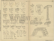 Toy Building Blocks William Murphy Original Patent Lithograph 1932