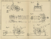 Weapon Mountings Schneider & Cie Original Patent Lithograph 1932