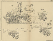 Typewriting and Computing Machine Remington Typewriter Company Original Patent Lithograph 1932