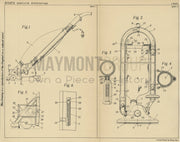 Suction Vacuum Cleaner Hoover Company Original Patent Lithograph 1932