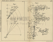 Anti Aircraft Weapon Aiming Rheinische Metallwaaren-Und Maschinenfabrik Original Patent Lithograph 1932
