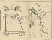 Motion Picture Projector Support Electrical Research Products Inc. Original Patent Lithograph 1932