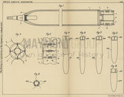 Bladed Projectiles Edgar Brandt Original Patent Lithograph 1932